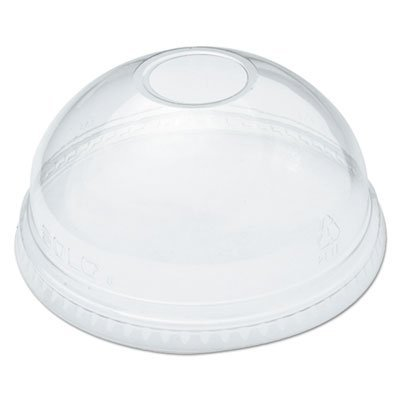 Ultra Clear Dome Cold Cup Lids f/16-24 oz Cups, PET, 100/Pack, Sold as 100 Each