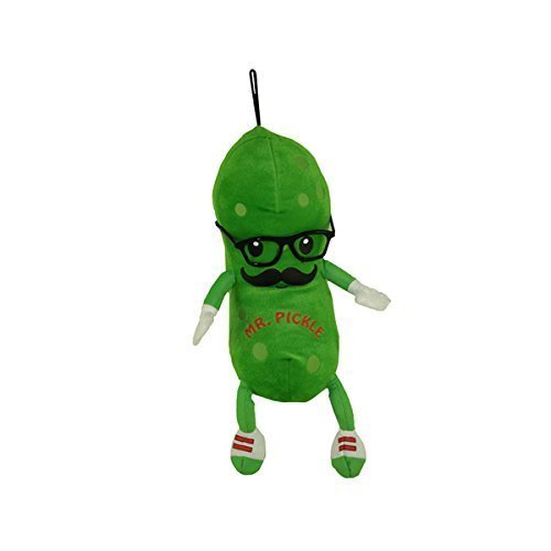 Fiesta Toys Mr. Pickle with Mustache and Glasses Plush Stuffed Animal Toy - 8