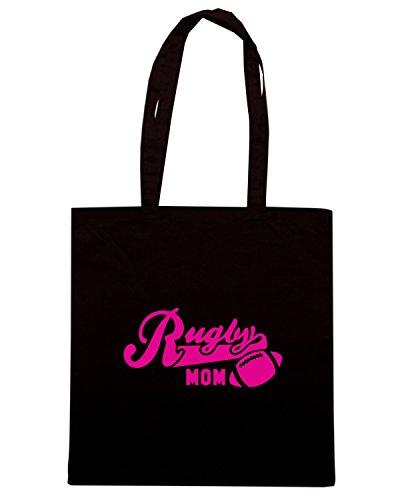 T-Shirtshock - Bolsa para la compra SP0124 Rugby Mom Maglietta Negro