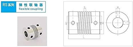 Without brand LMY-Pulley Size : 2mm to 2mm 1pc 3D-Drucker-Teile Zubeh/ör Schrittmotor-Aluminium-Legierung Z-Achse Flexible Kupplung D15 L20 Kupplung Wellenkupplung