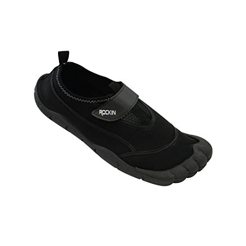 Rockin Footwear Mens Aqua Foot Water Shoes (11, Black)