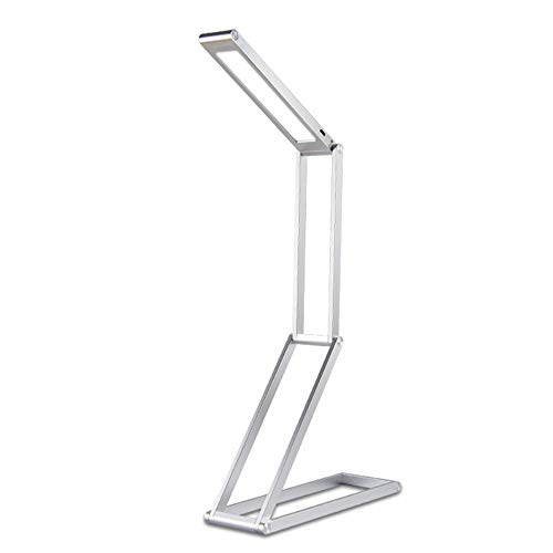 Fashion Bedtime - YsinoBear Foldable Led Lamp, Portable USB Rechargable Table Lamp Led Desk Light with 2-Level Dimmer for Reading Studying Bedtime Fashion Decorative Lighting (Color : Silver)