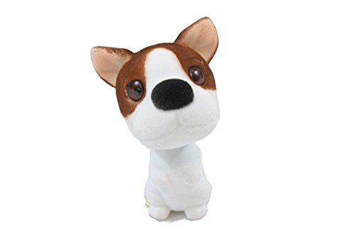 (Batty Bargains Hyper Bobblehead Jack Russle Terrier Mutt Dog with Car Dashboard Adhesive)