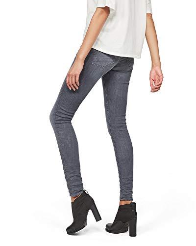 G-STAR RAW Damen Lynn D-Mid Waist Super Skinny Jeans, Grau (medium Aged 9296-071), 24W / 34L 2