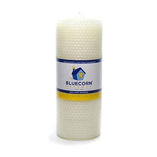 Candle Beeswax Pillar (Bluecorn Beeswax 100% Pure Honeycomb Beeswax Pillar (Ivory, 3
