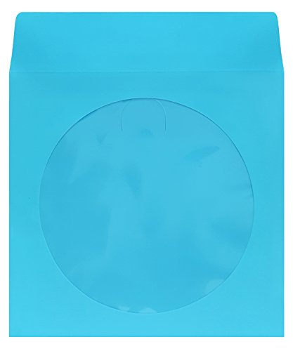 CD/DVD Paper Sleeve (1,000-Sky Blue) (100 Paper Piece Sleeve Cd)
