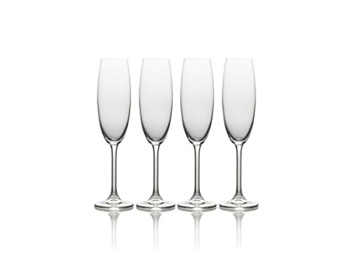 Mikasa Julie Champagne Flute, 8-Ounce, Set of 4