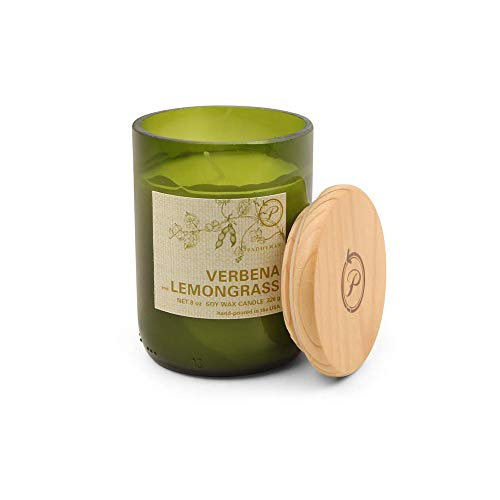 (Paddywax Eco Collection Scented Soy Wax Jar Candle, 8-Ounce, Verbena & Lemongrass)