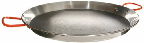 Garcima 18-Inch Carbon Steel Paella Pan, 46 cm 12 Servings