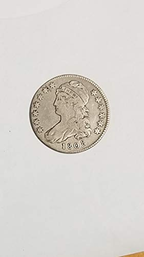 1808 CAPPED BUST SILVER HALF DOLLAR-AFFORDABLE EARLY BETTER DATE -VERN'S CARD & COIN Half dollar VG-F