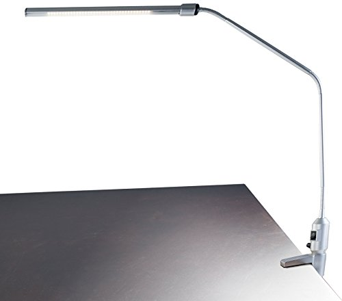 "Lavish Home Contemporary Clamp LED Desk Lamp, Silver (41"")"