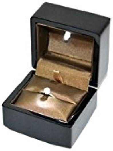 Estuche para anillo de madera lacado negro brillante con LED 75 x 76 H60 mm lck1: Amazon.es: Joyería
