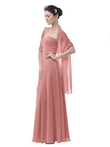 Modest Bridal Dresses (Alicepub Chiffon Bridal Shawl Wedding Wrap Stole Women's Evening Dress Scarf Bolero, 18