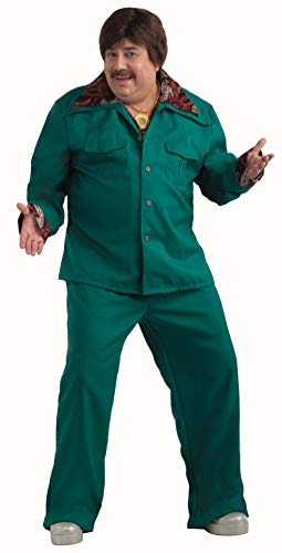 Polyester Leisure Suit (Forum Novelties Men's Plus-Size 70's Disco Fever Leisure Suit Costume, Aqua,)
