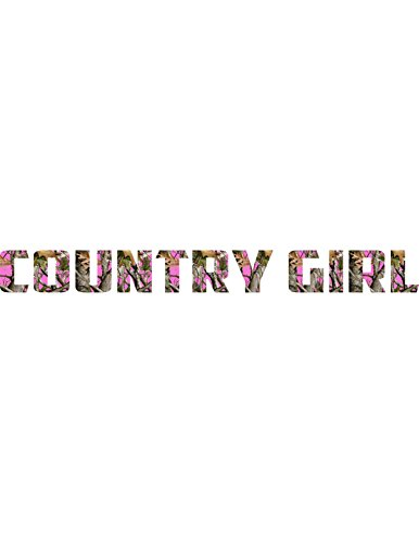 Country Girl Camo Windshield Decal 4x40