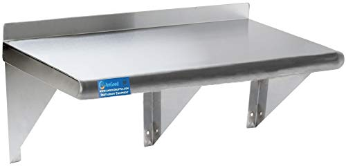 "12"" X 72"" Stainless Steel Wall Shelf 