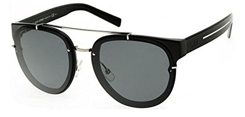 New Christian Dior BLACK TIE 143S E3Z shiny black crystal black/dark grey Sunglasses (Tie Christian Dior Mens)