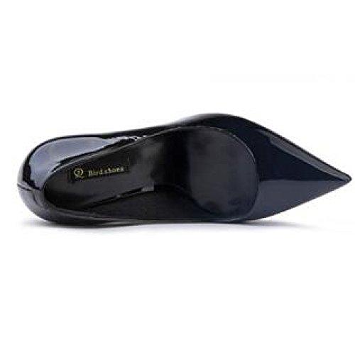 5 Negro eu Altos 3cm Sexy Partido Trabajo 37 Boda Mujer Moda De Corte Nocturno uk black 4 La 9 Tacones Zapatos RxwZad