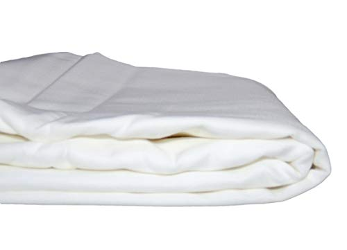 (Whisper Organics Organic Cotton Flat Bed Sheet 300 Thread Count (Queen, White))