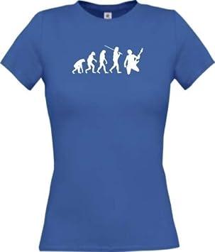 Shirtinstyle Camiseta DE Mujer Evolution Estrella de Rock Baterista Groupie Roquero Star Diversos Colores, Camiseta DE Culto XS-XL: Amazon.es: Deportes y ...