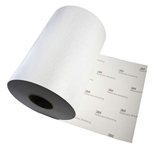 3M Reflective White Silver Adhesive Craft Vinyl Sheet 12