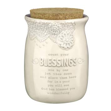 (Everyday Blessing Jar By Grasslands Road Cork Top Lace Count Your)