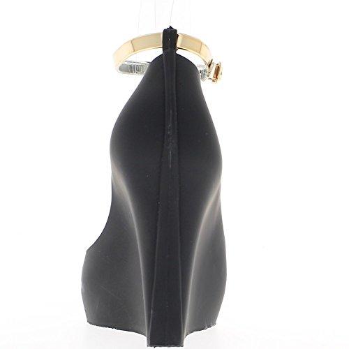 Pompe tacco donna aperto pizzo nero 11cm