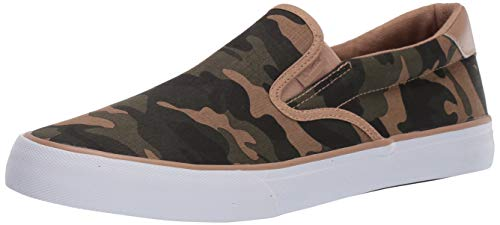 (Lugz Men's Clipper Sneaker, Tan Green Camo/White, 11.5 D US)