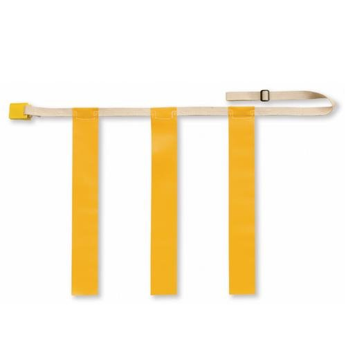 TRIPLE THREAT Flag Football Belts, Yellow, Medium (EACH)