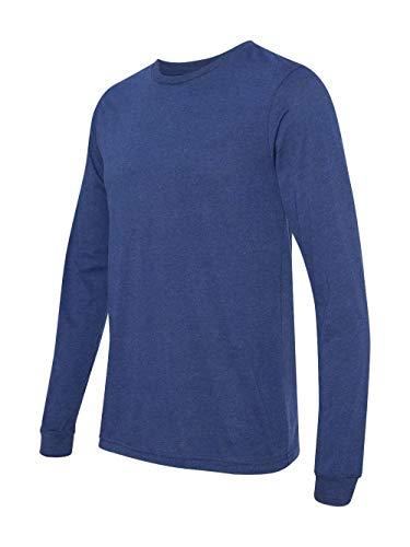 Bella + Canvas Unisex Jersey Long-Sleeve T-Shirt - NAVY TRIBLEND - M - (Style # 3501 - Original Label) Canvas Long Sleeve Jersey