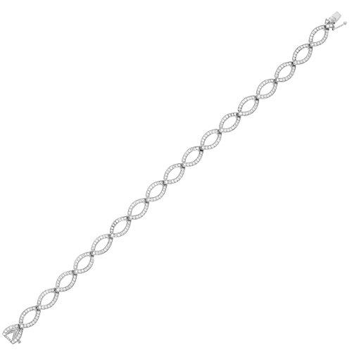 Orphelia - Bracelet - Argent - Oxyde de Zirconium - 19.5 cm - ZA-1872