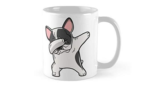 Funny Dabbing Pied French Bulldog Dog Mug(One Size) ()