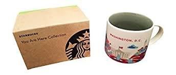 Starbucks Washington D.C. You Are Here Store Ceramic Coffee Mug (14 Ounce with Gift Box)