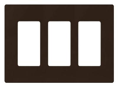 Lutron 3-Gang Claro Wall Plate