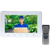 IP Video Door Phone Intercom System with 7 inch Monitor (Remote Monitoring, Unlocking, 2-Way Audio, Push Video) - Distributed by NAC Wire and Cables by PIMG