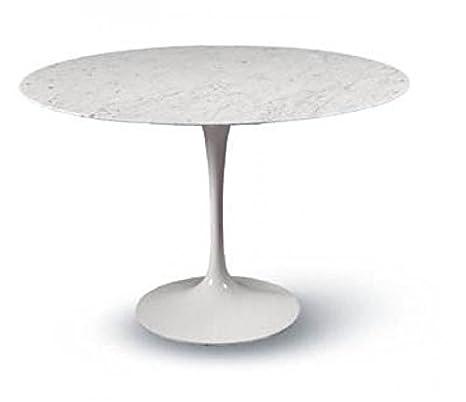 Tavolo Tondo Marmo.Tavolo Tulip Eero Saarinen Rotondo Diam Cm 100 Marmo Carrara