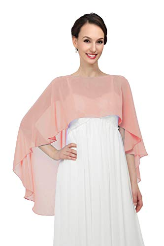 - Shawls and Wraps for Evening Dresses Chiffon Wedding Capes Soft Shrugs Rose gold
