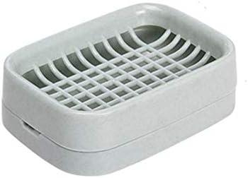 2個の耐久性のあるプラスチック製の浴室用石鹸皿、2層デザイン、トレイケース、シンクボックス、キッチン排水スロット、安全で無毒、低退色