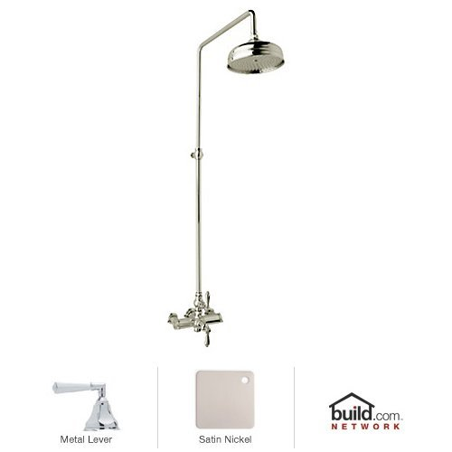 Rohl AKIT49172LHSTN Country Bath Shower System with Exposed Thermostatic Valve, Satin Nickel