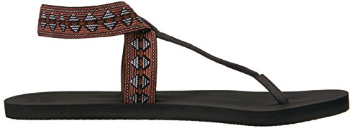 Reef Women's Cushion Moon Prints Flat Sandal Black D8Dja0