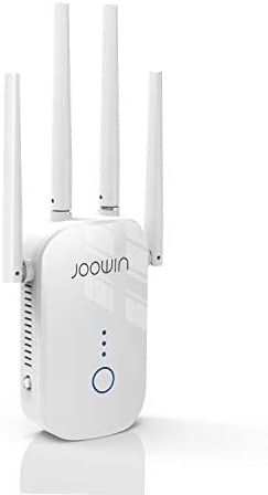 JOOWIN WiFi Range Extender 1200Mbps Signal Booster for Home WiFi Repeater 1500sq.feet 2.4 & 5GHz Dual Band 802.11ac WiFi Extender, Easy Setup Repeater/Bridge/AP Mode, White