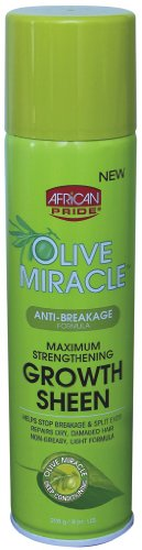 African Pride Hair Care (African Pride Olive Miracle Growth Sheen Spray 8 Ounce (235ml) (2 Pack))