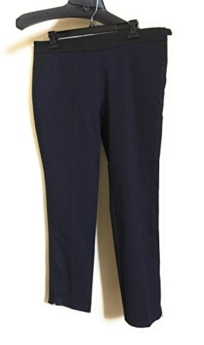 Eileen Fisher Black Stretch Organic Cotton Slim Ankle Pants Size S/P MSRP $158 ()