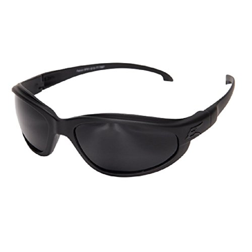 Edge Eyewear Falcon Thin Temple Glasses, Matte Black Frame/G-15 Vapor Shield Lens