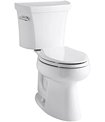 Highline 1.0 GPF Comfort Height Two-Piece Elongated Toilet with Class Five Flush Technology and Left-Hand Trip Lever, White