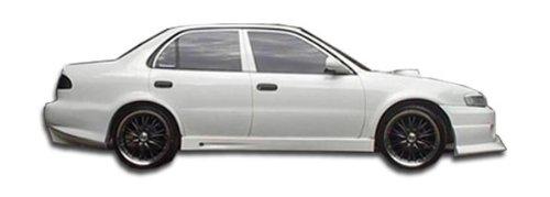 Duraflex Replacement for 1993-2002 Toyota Corolla Geo Prizm Bomber Side Skirts Rocker Panels - 2 Piece ()