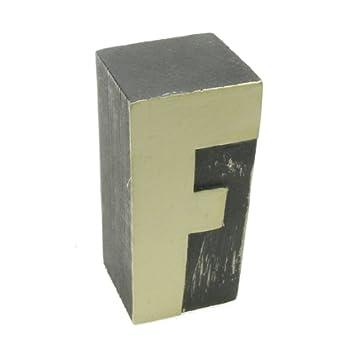 Lettres De L Alphabet En Bois Peinte A La Main Bloc Lettre