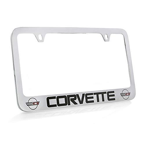 Chevrolet Corvette C4 Chrome Plated Metal License Plate Frame Holder