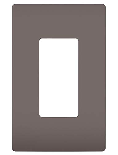 (Legrand - Pass & Seymour radiant RWP26 One-Gang Screwless Wall Plate, Brown)