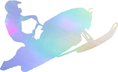 (NBFU DECALS SNOWBOADING Snowboarder Style 4 (Hologram) (Set of 2) Premium Waterproof Vinyl Decal Stickers for Laptop Phone Accessory Helmet Car Window Bumper Mug Tuber Cup Door Wall Decoration)